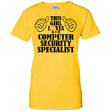 """Loves Computer Security Specialist"" Ladies' 100% Cotton T-Shirt"