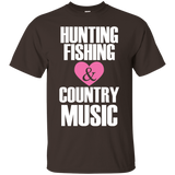 """Hunting Fishing & Country Music"" Ultra Cotton T-Shirt"