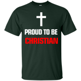 """Proud To Be Christian"" Ultra Cotton Dark T-Shirt"