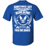 """Being Alone"" Ultra Cotton T-Shirt Back"