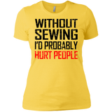 """Without Sewing"" Ladies' Boyfriend T-Shirt"