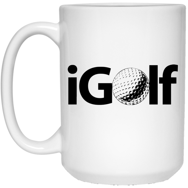 """iGolf"" 15 oz. White Mug"