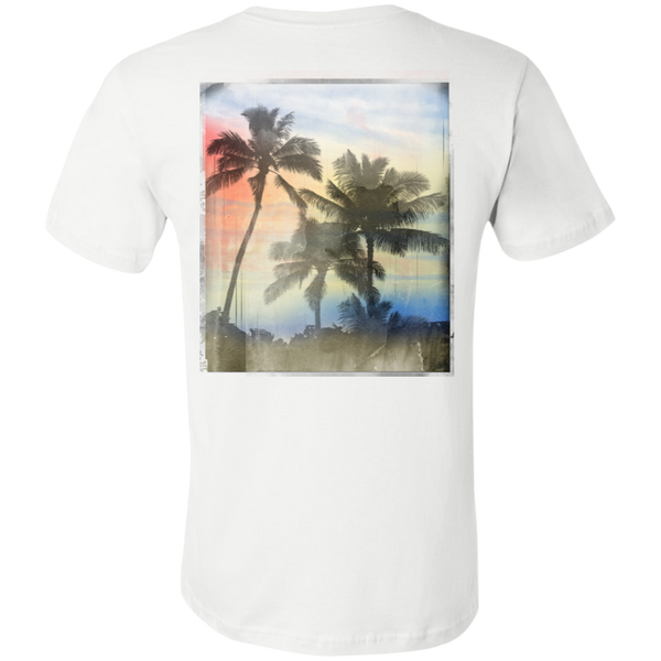 """Palm Trees"" Unisex Jersey Short T-Shirt (Back)"