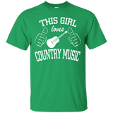 """Girl Loves Country Music"" Ultra Cotton T-Shirt"