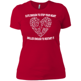 """Cute Nurse"" Ladies' Boyfriend T-Shirt"
