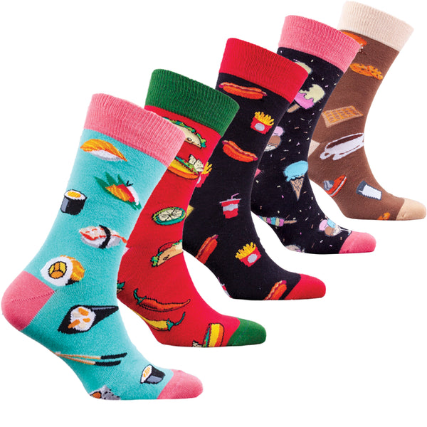 Men's Faster Food Socks - 5-pack