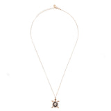 Chocolate Turtle Pendant Necklace Rosegold