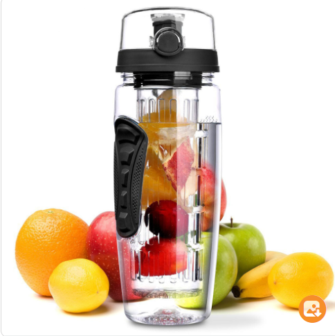 BAISPO 32oz, BPA Free, Fruit Infuser Drink Bottle