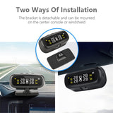 Original Solar TPMS Car Tire Pressure Alarm Monitor System with 4 Sensors