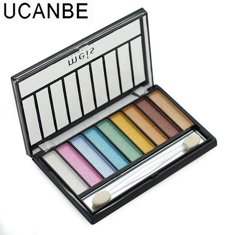 9 Color Shimmer Eye Shadow Palette With Brush