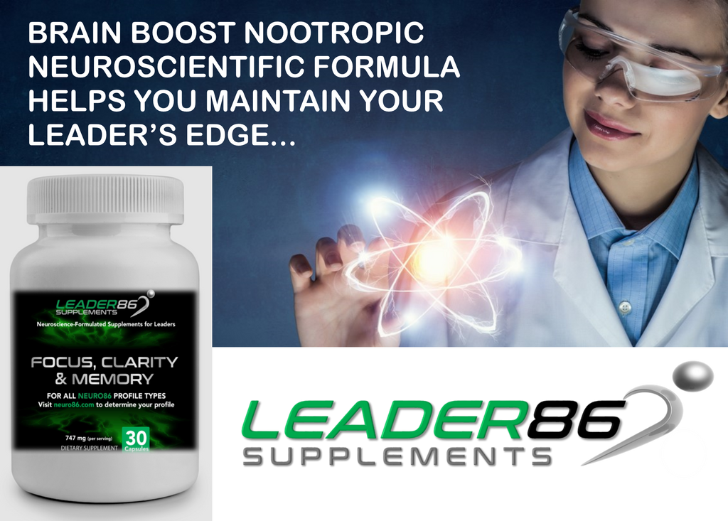 Aretanium LEADER86 (30ct) Best Nootropic Supplement for Brain Boost, Memory, Focus, and Mental Clarity with Bacopa Monnieri, St. John's Wart, Ginkgo Biloba, Phosphatidylserine, Huperzine A, L-Glutamine