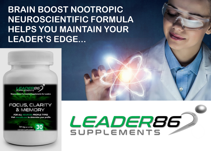 Aretanium LEADER86 (30ct) Best Nootropic Supplement for Brain Boost, Memory, Focus, and Mental Clarity with Bacopa Monnieri, St. John's Wart, Ginkgo Biloba, Phosphatidylserine, Huperzine A, L-Glutamine - Veteran Leaders - Books by Veterans