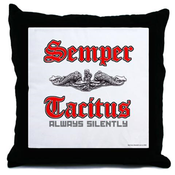 SEMPER TACITUS THROW PILLOW - Veteran Leaders - Books by Veterans