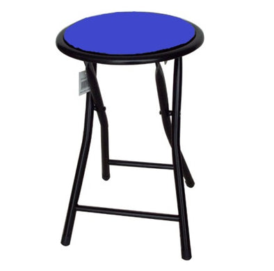#1202 Cushioned paded folding stool - Blue (case pack 10 pcs)