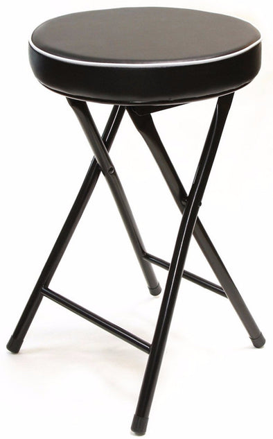 #1205 Cushion Top Folding Stool - Black (Case pack 6 pcs)