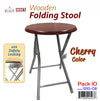 #1210-CR Folding Wooden Stool - Cherry (Case pack 10 pcs)