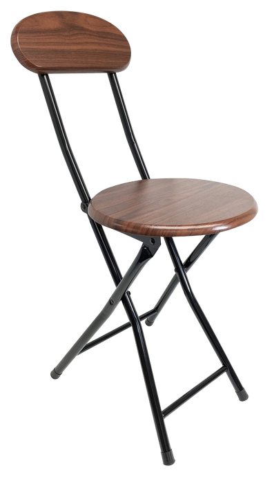 #1212-CR Folding Wooden Stool with Back - Cherry (Case pack 6 pcs)