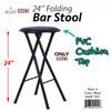"#1221 Bar Stool 24"" - Black (Case pack 6 pcs)"