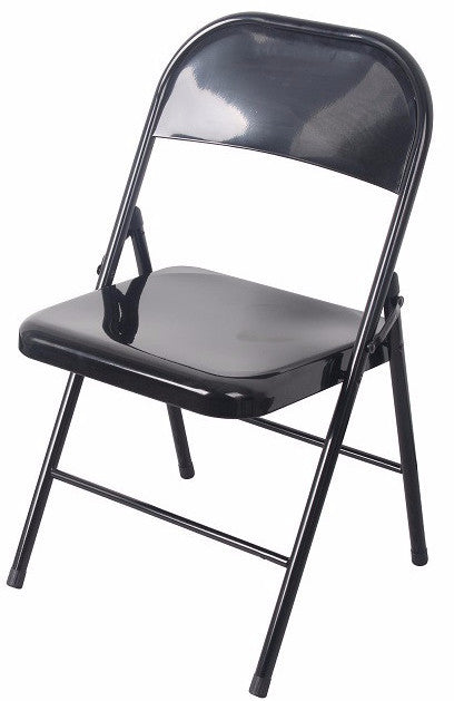 #1231-BLK All Metal Heavy Duty Chair- Black (Case pack 6 pcs)