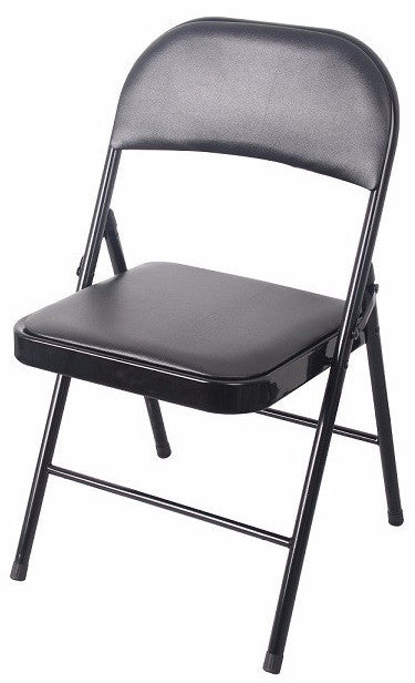 #1237-BLK PVC & Cushion Heavy Duty Chair - Black (Case pack 6 pcs)