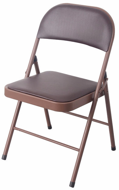 #1237-BRN PVC & Cushion Heavy Duty Chair - Brown (Case pack 6 pcs)