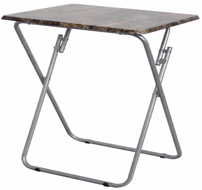 #1307 Over-sized TV Tray Folding Table - Marbleized (case pack 4 pcs)