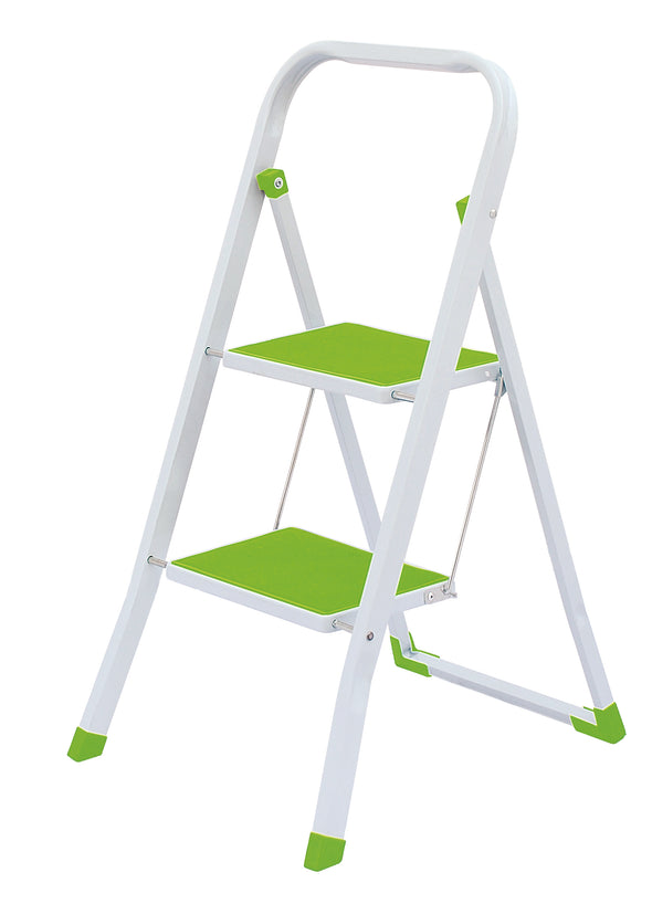 #1524-GR Heavy Duty 2 Step Ladder - Green (case pack 6 pcs)