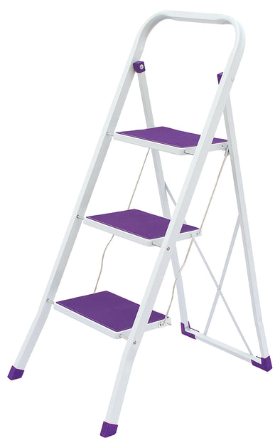 #1525-PP Heavy Duty 3 Step Ladder - Purple (case pack 6 pcs)