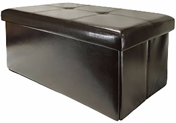 "#1539-K2 Collapsible 30"" Storage Ottoman - Black (case pack 1 pc)"