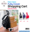 #1582 Fabric Shopping Cart - Black (case pack 10 pc)