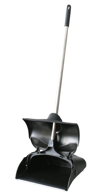 #1628-CL Heavy Duty Black Lobby Dustpan (case pack 6 pcs)