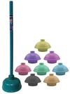 #1635-CL Toilet Plunger Double Layer Rubber Head - Color Assorted (case pack 24 pcs)