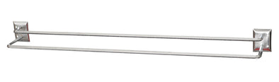 "#2101 Chrome Double 24"" Towel Bar (case pack 12 pcs)"