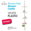 #2120 Tension Pole Shower Caddy Plastic - White (case pack 6 pcs)