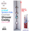 #2121 Tension Pole Shower Caddy Metal - Black (case pack 6 pcs)