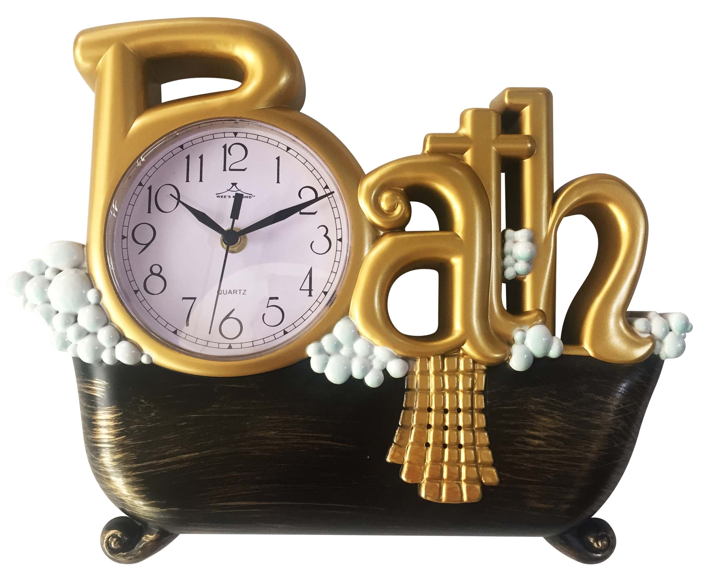 2800 Ast Bath Wall Clock Assorted Colors Case Pack 6 Pcs Wee S Beyond Wholesale
