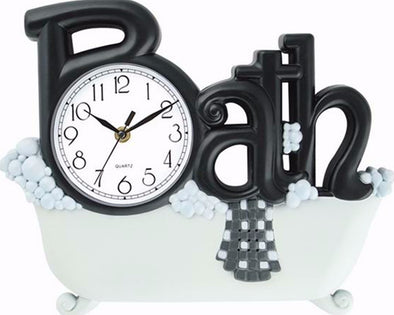 #2800-BLK/WHT Bath Wall Clock Black (case pack 6 pcs)