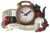 #2801 Kitchen Wall Clock - Assorted Styles Antique & Tan (case pack 6 pcs)
