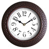 "#2830 Woven-like Rattan Style 14"" Wall Clock Assorted (case pack 10 pcs)"