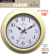 "#2833-AB Antique 16"" Wall Clock (case pack 6 pcs)"