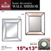 "#2851-M Bevel Beaded Mirror 15""x13' (case pack 4 pcs)"