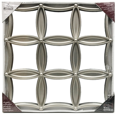 "#2853-M Decor Diamond Shape 17"" Wall Mirror - Assorted Colors (case pack 8 pcs)"