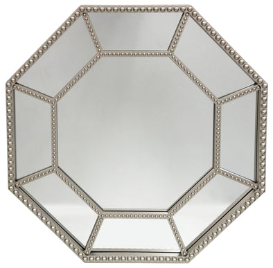 "#2854-M Decor Octagon Shaped 18.5"" Wall Mirror - Assorted Colors (case pack 6 pcs)"