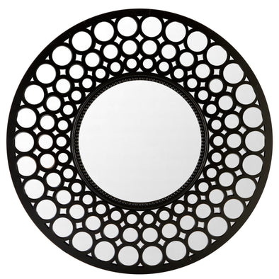 "#2855-M Round 25"" Wall Mirror Assorted Colors (case back 4 pcs)"