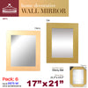 #2873-M Wall Rectangular Dressing Mirror - Assorted Colors (case pack 6 pcs)