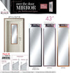 "#2885-B Over-the-door Mirror 43"" - Assorted Colors (case pack 8 pcs)"