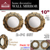 "#2902-G Wee's Beyond 10"" Wall Decor Mirror 2-pc Set (case pack 12)"