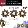 "#2904-G Wee's Beyond 10"" Wall Decor Mirror 3-pc Set (case pack 6)"