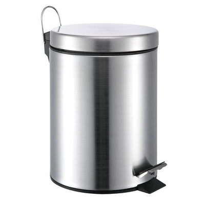 #3100-12 Stainless Steel 12L Step-on Trash Can 3.5 Gallons (case pack 4 pcs)