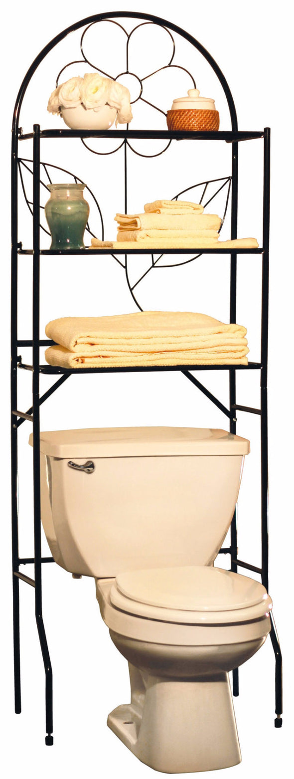 #3253 Over-The-Toilet Rack Space Saver - Black (case pack 1 pc)